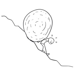 climbing rock by giant slope draw