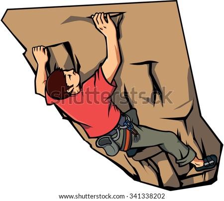 climbing wall vector