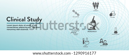 Clinical Study - Web Header Banner and Icon Set