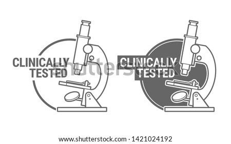 Clinically tested sign or stamp symbol. Vector illustration