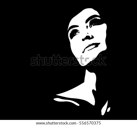 clip art abstract portrait of