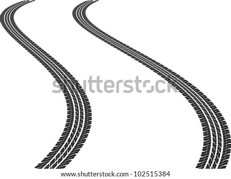 clip art illustration of tire tracks