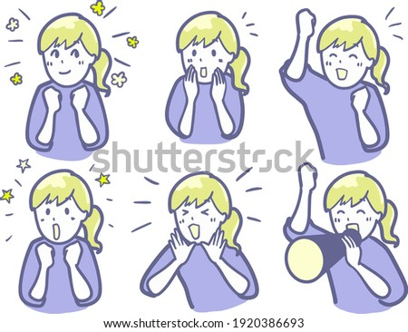 clip art of a woman cheering