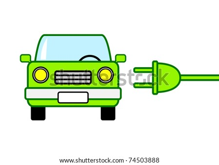 Clip-art of ecological car