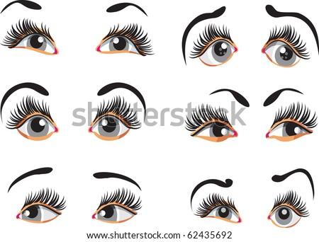 cartoon eyes clip art free. cartoon eyes clip art. stock vector : Clip-art of