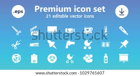 clip icons set of 21 editable