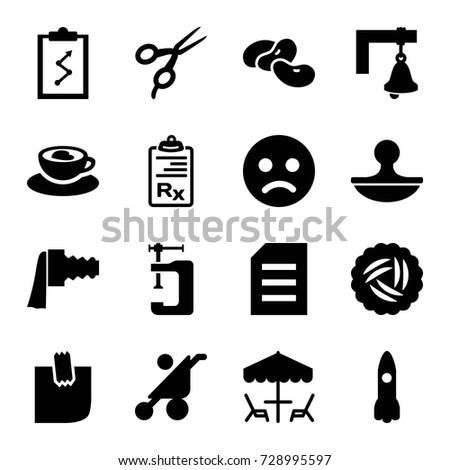 clip icons set set of 16 clip