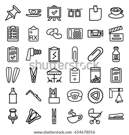 clip icons set set of 36 clip