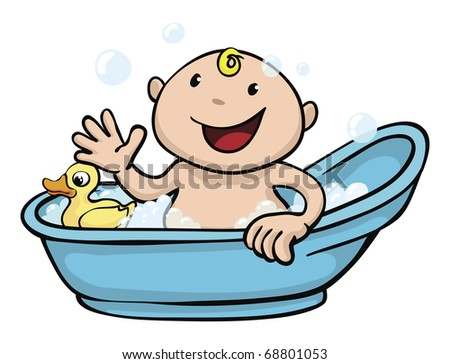 Bathroom Tubs on Playing In The Bath Tub With A Rubber Duck   68801053   Shutterstock