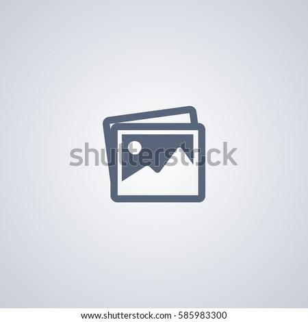 Clipart vector icon, image vector icon