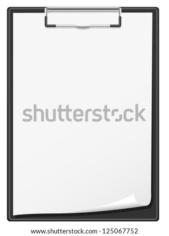 clipboard and blank sheet of paper vector illustration isolated on white background