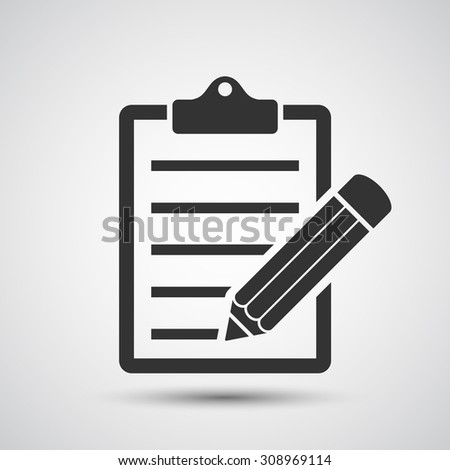 Clipboard and pencil icon - Vector
