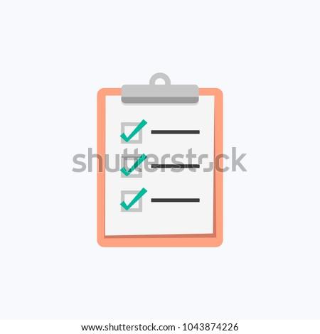 Clipboard Checklist Vector Icon