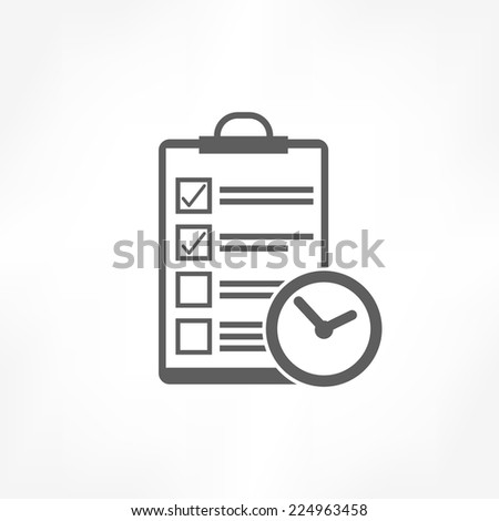 clipboard & clock icon