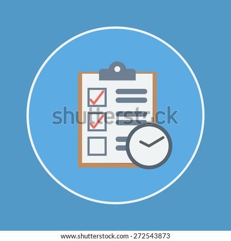 clipboard & clock icon