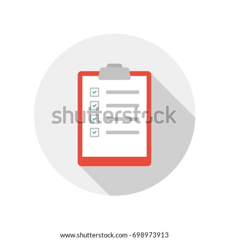 Clipboard flat design icon vector
