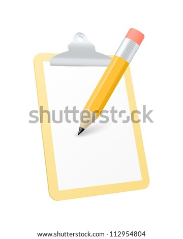 Clipboard icon - stock vector