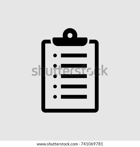 clipboard icon, check list icon