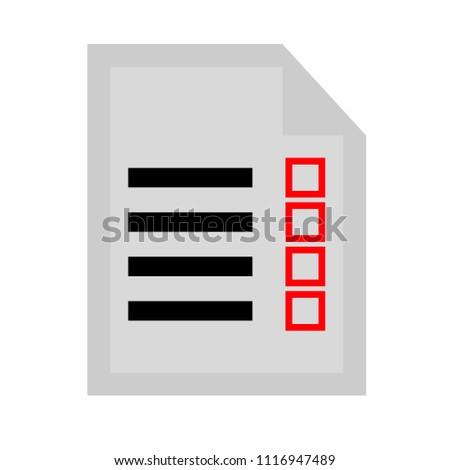 clipboard icon - vector check list, checklist form illustration, survey icon