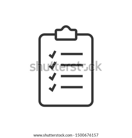 clipboard icon vector. flat illustration of clipboard - vector icon. clipboard sign symbol