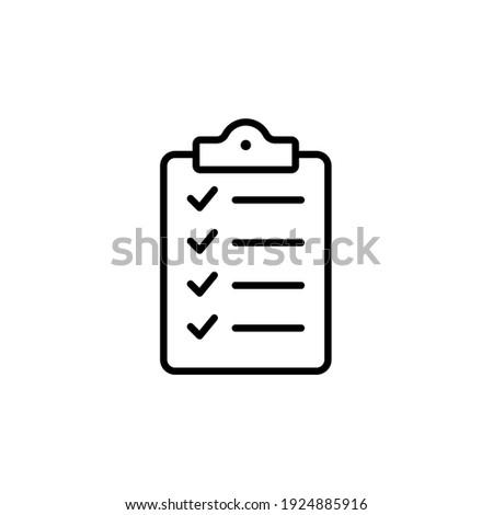 Clipboard icon vector. Task line icon symbol vector illustration Foto stock ©
