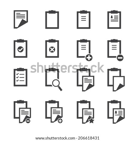 Clipboard icons