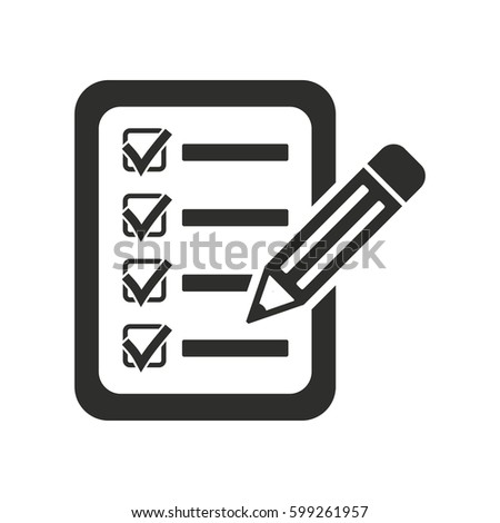 Clipboard pencil vector icon. Illustration isolated for graphic and web design.