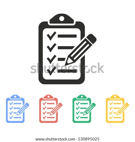 Clipboard pencil vector icon. Illustration isolated on white background for graphic and web design.