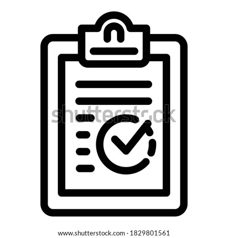 Clipboard reliability icon. Outline clipboard reliability vector icon for web design isolated on white background Stock foto ©
