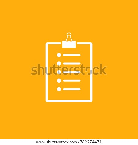 Clipboard Vector Icon
