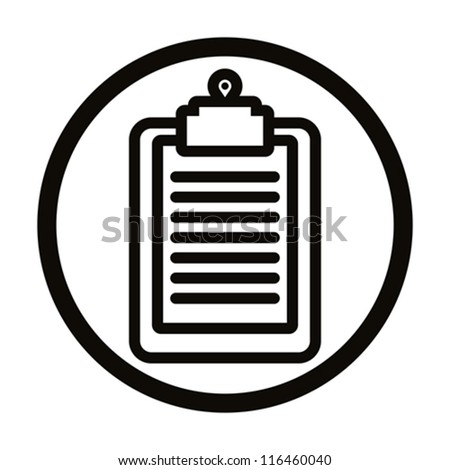 Clipboard vector simple icon.