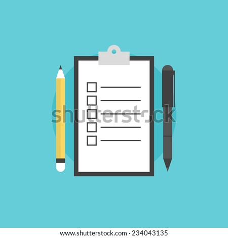 Clipboard With Blank Checklist Form To Do List And Planning Project With Off