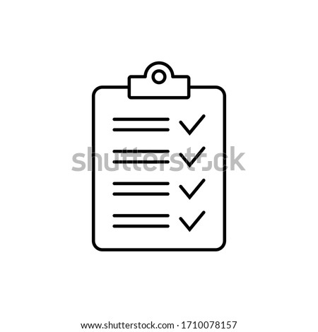 Clipboard with checklist icon, symbol for web site and app design. Foto stock ©