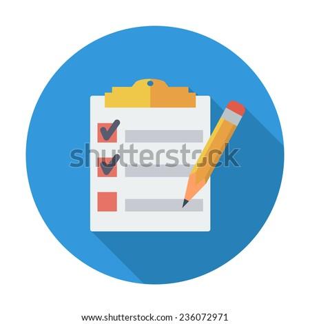 clipboard with pen single flat