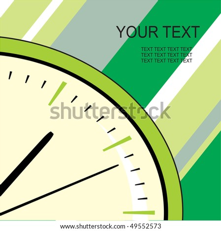 clock - stock vector