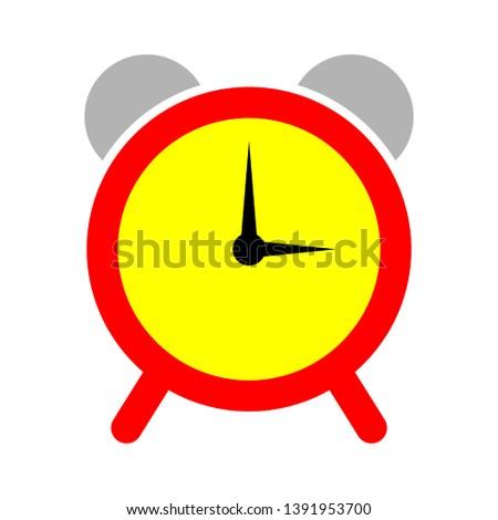 clock Alarm icon-alarm isolated-alert symbol-time illustration-ring Sign-deadline symbol-wake Vector