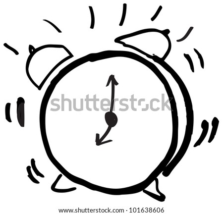 clock alarm illustration - stock vector