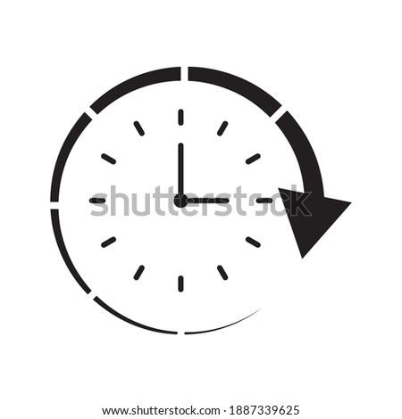 Clock and circular arrow vector icon Photo stock ©