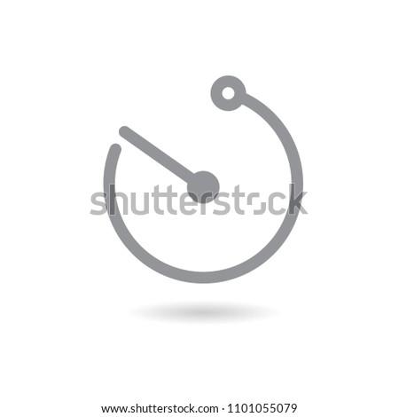 Clock arrow icon vector illustration