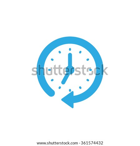 clock arrow icon vector