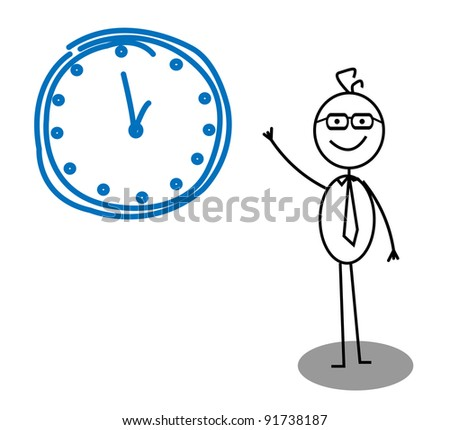 Clock Businessman