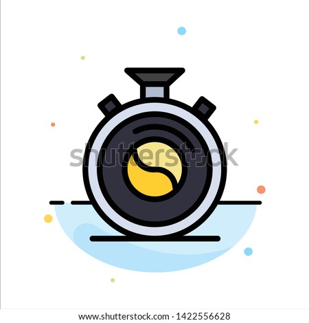 Clock, Concentration, Meditation, Practice Abstract Flat Color Icon Template