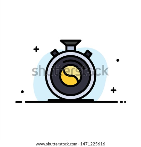 Clock, Concentration, Meditation, Practice  Business Flat Line Filled Icon Vector Banner Template. Vector Icon Template background