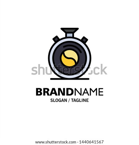 Clock, Concentration, Meditation, Practice Business Logo Template. Flat Color