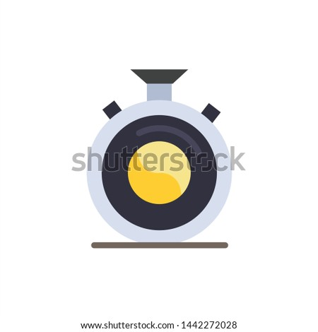 Clock, Concentration, Meditation, Practice  Flat Color Icon. Vector icon banner Template