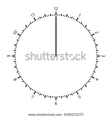 clock face and clockwise vector creative concept one pointer five minute unit resolution simple design minimal style