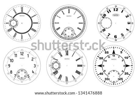 Numerals set - Download Free Vector Art, Stock Graphics & Images