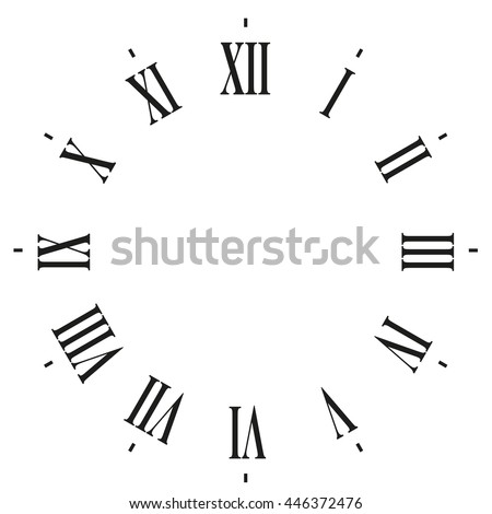 clock face blank with roman