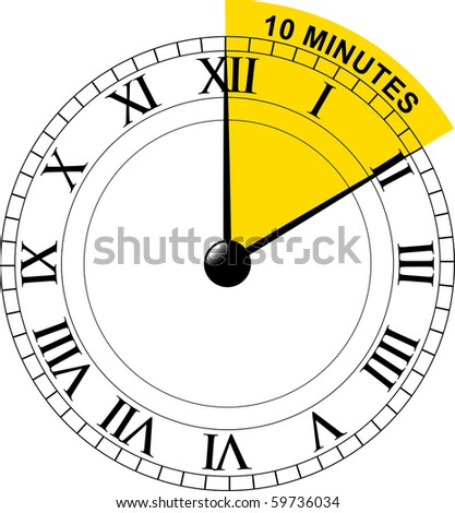 clock face showing 10 minutes selected