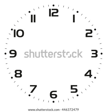 clock face  - Vector illustration